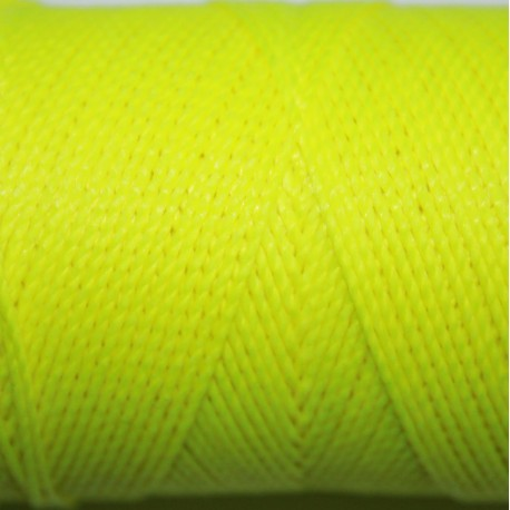 Hilo poliester amarillo fluor x 5 metros