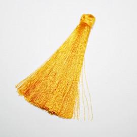 Borla o pompón largo amarillo