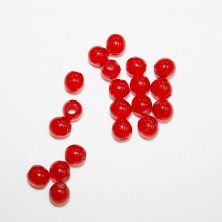 Abalorio rojo bolsa x 10 unidades