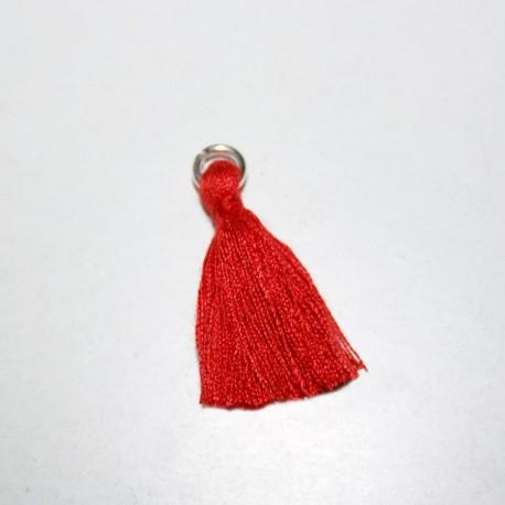 Borla o pompón con anilla rojo