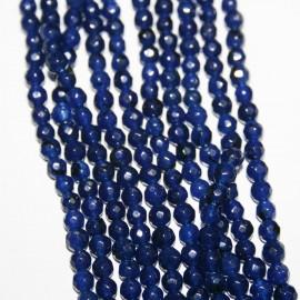 Piedra natural Ágata facetada azul oscuro
