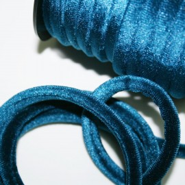 Cordón de terciopelo 5mm azul oscuro