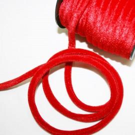 Cordón de terciopelo 5mm rojo