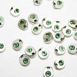 Charm pequeño con cristal de Swarovski verde