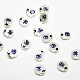 Charm pequeño con cristal de Swarovski lila
