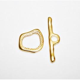 Cierre Dali baño de oro mate