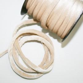 Cordón de terciopelo 5mm beige