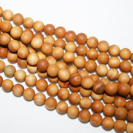 Bolas de madera de 6mm x 67 unidades, tinte natural