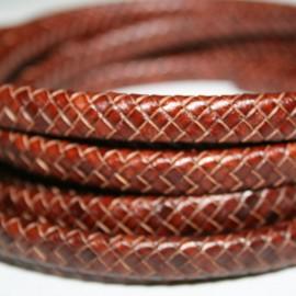 Cuero trenzado cuero sintético COÑAC x cm
