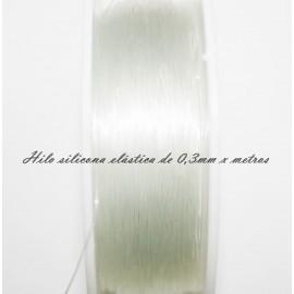 Hilo de silicona elástica de 3mm se vende x metros