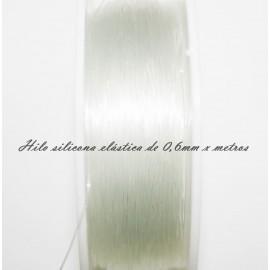 Hilo de silicona elástico de 0,8mm x metros