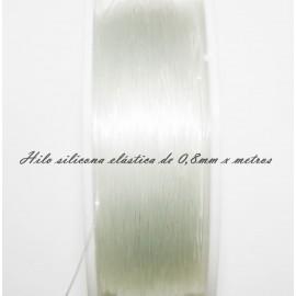 Hilo de silicona elástica de 0,8mm se vende x metros