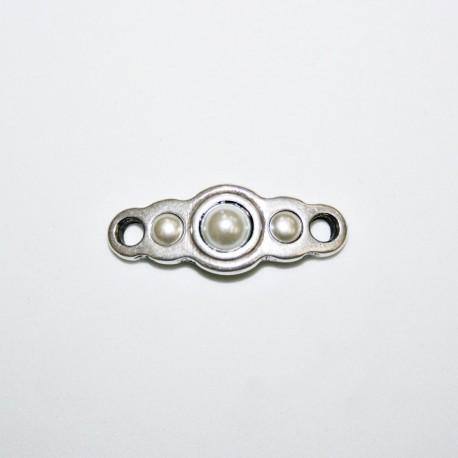 Conector tres perlas simétricas