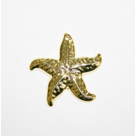 Estrella de mar colgante mediano dorado