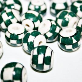 Cerámica cuadros en verde pequeña