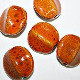 Cerámica naranja motitas