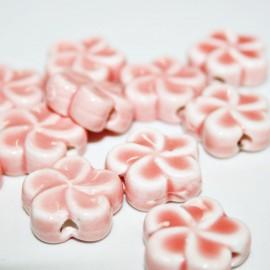 Cerámica flor rosa paso de 2mm