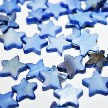 Estrella de nacar azul