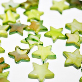 Estrella de madreperla verde