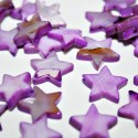 Estrella de madreperla violeta