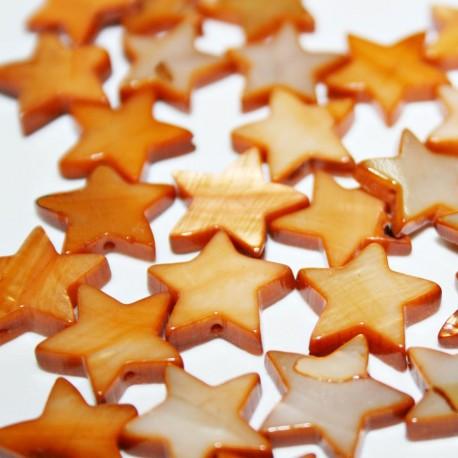 Estrella madreperla marrón