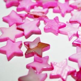 Estrella de madreperla fucsia