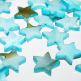 Estrella de madreperla turquesa