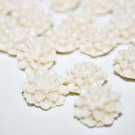 Flor Dalia color crema pequeña
