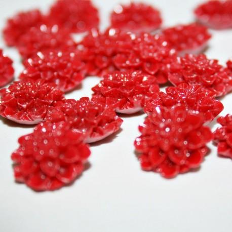 Flor Dalia pequeña rojo