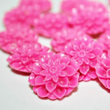 Flor resina fucsia