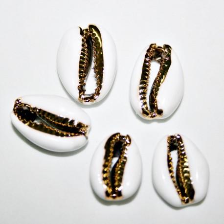 Concha metálica esmaltada blanca pack 5 unidades