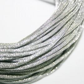 Cordón lurex de 2mm plata se vende por metros