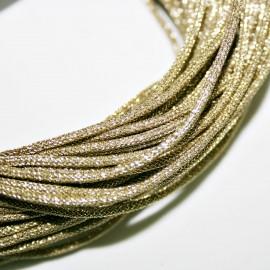 Cordón Lurex de 2mm dorado se vende por metros