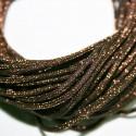 Cordón lurex 2mm marrón se vende por metros