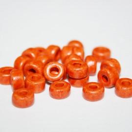 Cerámica cilíndrica naranja oscuro 25 unidades