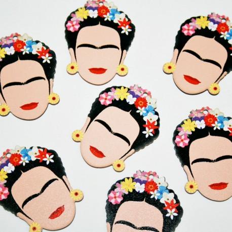 Frida Kahlo de madera grande