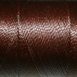 Hilo poliester encerado marrón 0,5mm 1metro