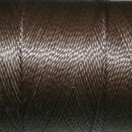 Hilo poliester encerado gris 0,5mm 1 metro