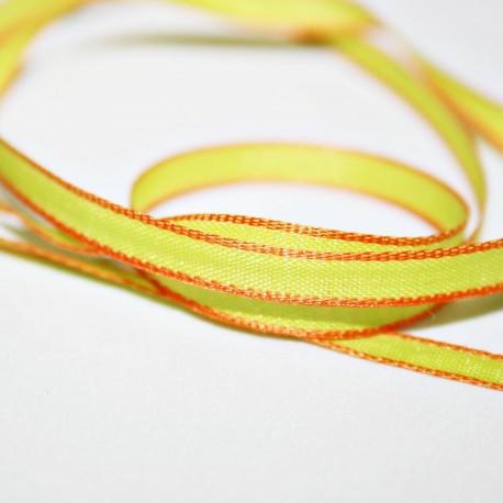 Cinta fina verde y naranja 5mm