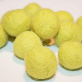 Bola de fieltro verde claro 22mm