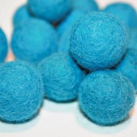 Bola de fieltro azul 22mm
