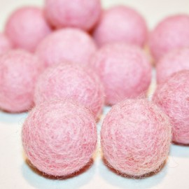 Bola de fieltro rosa 22mm