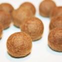Bola de fieltro marrón 22mm
