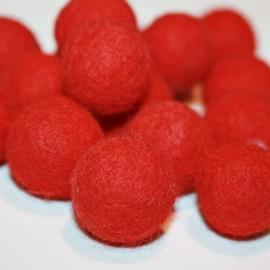 Bola de fieltro roja 22mm