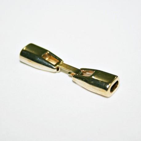 Cierre plano con caja de 6mm dorado