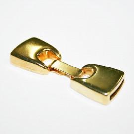 Cierre plano con caja de 12mm dorado