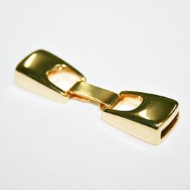 Cierre plano con caja de 10mm dorado