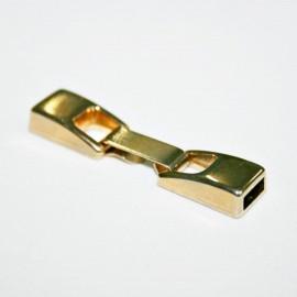 Cierre plano con caja de 7mm dorado