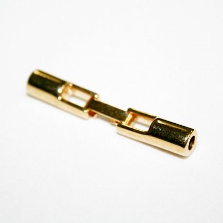 Cierre con caja de 3mm redondo dorado
