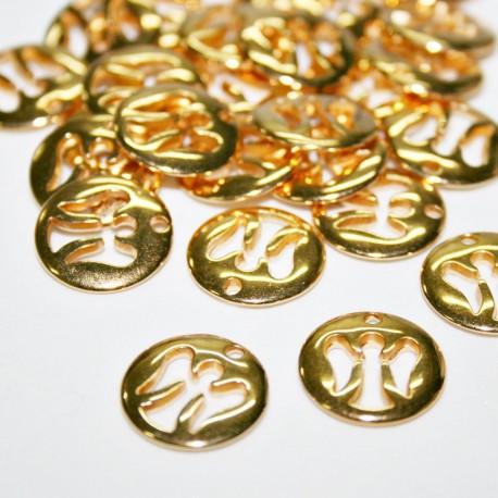 Medallita ángel dorada